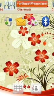 Orange Flowers 02 theme screenshot