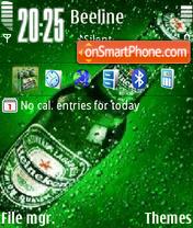 Скриншот темы Animated Heineken