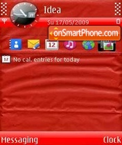 Red Paper Folds theme screenshot
