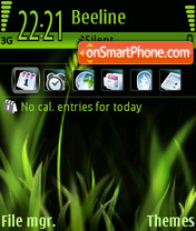Greenblack theme screenshot