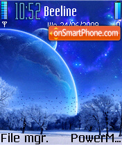 BlueMoon Theme tema screenshot