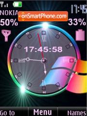 SWF windows clock $ ind anim Theme-Screenshot