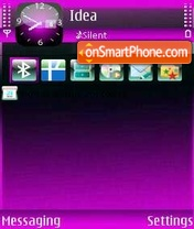 Purple Shadow theme screenshot