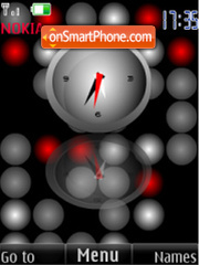 SWF clock balls animated tema screenshot
