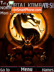 Mortal Kombat theme screenshot
