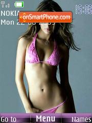 Girl in pink Bikini tema screenshot