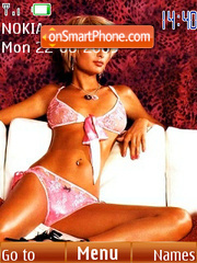 Paris Hilton tema screenshot