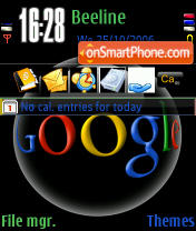 Black Google theme screenshot