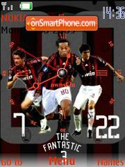 Ac Milan Clock 2 SWF theme screenshot