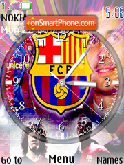 Barca Clock theme screenshot