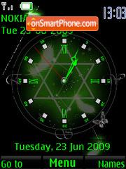 Pentagramm (SWF clock and date) tema screenshot