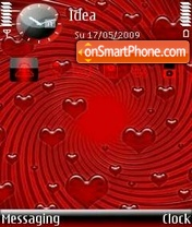 Raining Love theme screenshot