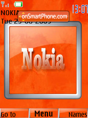 Orange Nokia theme screenshot