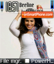 Genelia Blue theme screenshot