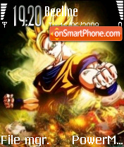 Dengene Goku theme screenshot