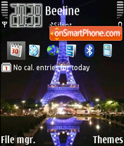 Eiffel Tower 05 theme screenshot