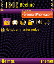 The x-treme 01 theme screenshot
