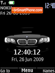 BMW (SWF clock and date) Theme-Screenshot