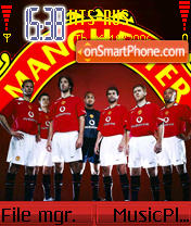 Скриншот темы Manchester United V2