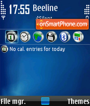 FooAVA blue theme screenshot