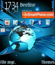 Globe 02 tema screenshot