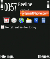 Nokia n97 dark theme screenshot