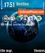 Blue World theme screenshot