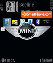 MINI Cooper Logo theme screenshot