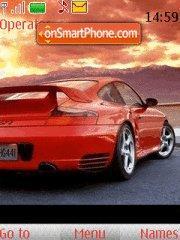Red Porsche tema screenshot