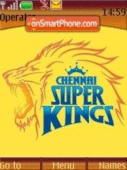 Chennai Superkings theme screenshot