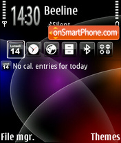 Deepspace theme screenshot