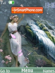 SWF girl flower anim theme screenshot
