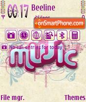 Music 5306 es el tema de pantalla