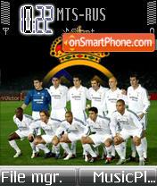 Скриншот темы Real Madrid FC