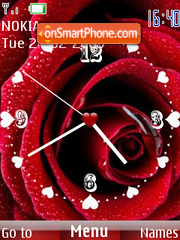 Valen Time Clock SWF es el tema de pantalla