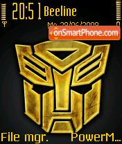 Transformers 2 01 theme screenshot