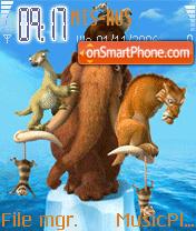 Ice Age S60 theme screenshot