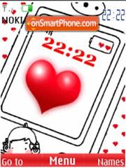 SWF animated love theme screenshot