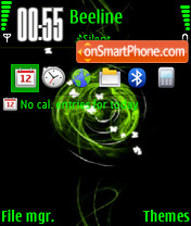 Abstract green 02 theme screenshot