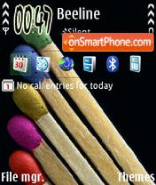 Match Sticks theme screenshot