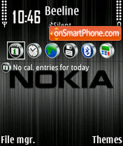 Nokia Black 04 theme screenshot