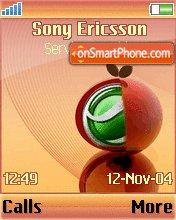 SonyOrange es el tema de pantalla