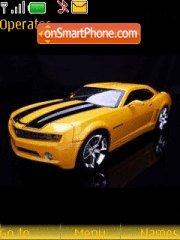 Yellow Camaro tema screenshot