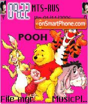 Скриншот темы Pooh And Mickey