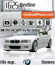 Скриншот темы BMW M3 white FP1