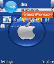 Скриншот темы Apple Blue