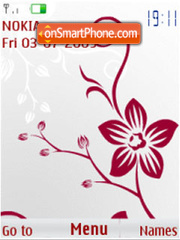 SWF abstract flower animated theme screenshot
