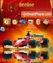 Скриншот темы Animated F1 Nokia