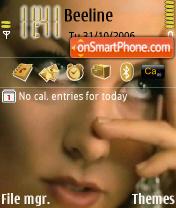 Скриншот темы Evanescence