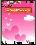 Pink & White Hearts tema screenshot